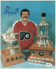 BERNIE PARENT  PHILADELPHIA FLYERS SIGNED 8X10 PHOTO AUTO AUTOGRAPH JSA CERT