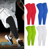 Calf Leg Running Compression Sleeve Socks Shin Splint Support Gym Sports Brace S