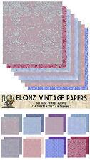 "Paper 24sh 6""x6""# Winter Purple # Flonz 075 Craft Scrapbooking Frost Ice Pattern"