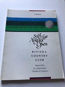 Los Angeles Open Golf Program Pairing 1985 59th  Riviera Country Club Coca-Cola