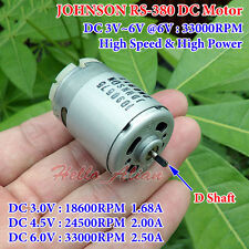 DC 3V~6V 33000RPM High Speed Large Torque JOHNSON 380 Motor Electric Drill Tools