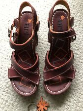 Art Company Sandals Size 5 EU38 Maroon Red
