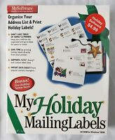 MySoftware CD-ROM My Holiday Mailing Labels for Windows 95/98 SEALED!