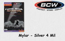 BCW - 25 Silver - Mylar - Comic Book Bags - Hüllen - 4 Mil mit Lasche NEU/OVP!