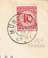 Germany Inflation Era Plattendruck Collector Note Munich 10p Cover 6y