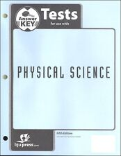 BJU Press Physical Science Tests Answer Key - 290833