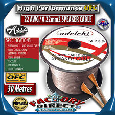 30M High Performance 22AWG 0.22mm2 100% Ultra Pure OFC Audio Cable Speaker Wire