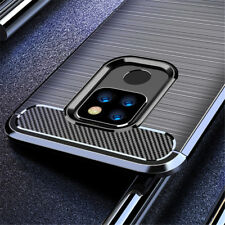 For Huawei Mate 20X 30 20 10 9 Pro Lite Fiber Carbon Silicone Rugged Case Cover