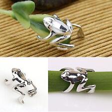 Silver FROG Ear Cuff Earcuff Earring Ear Crawler Climber Frog Jewelry Gift
