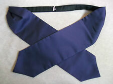 QUALITY DARK PURPLE & BLACK SILKY SHINY MENS CRAVAT MOD 70S 80S ++ EXTRA LONG ++