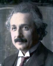 """ALBERT EINSTEIN GERMAN PHYSICIST SCIENTIST 1921 8X10"""" HAND COLOR TINTED PHOTO"""