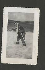 Vintage Photo Woman Skiing Acquila, Italy 1946