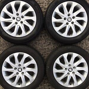 "Genuine Seat Leon 16"" Alloy Wheels FR Altea Exeo 10 Spoke 5F0601025A Tyre 205 55"