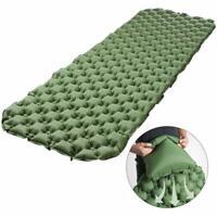 Inflating Mat Outdoor Tent Sleeping Pad Hiking Camping Pillow Air Mattress