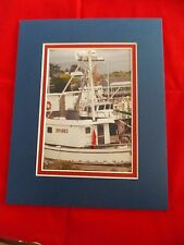 Fishing Boats Photo matted for your frame 8x10,Nautical,Fishing,Pacific North