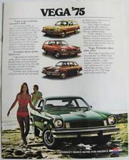 CHEVROLET Vega 1975 Sales Brochure Sep 1974 USA  #3017