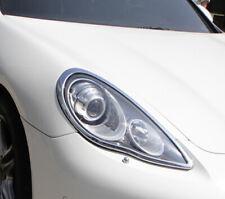 Chrome Head Light Trim Bezel Surrond Rim Cover For Porsche Panamera 970