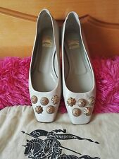 authentic Burberry Warrior studded ballet flats shoes