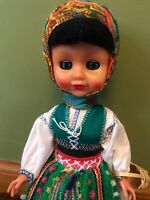 "VINTAGE OOAK Holland Doll 11"" many intricate details"