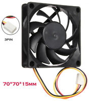 Quiet 7cm/70mm/70x70x15mm 12V Computer Silent Cooling Case Fan 3Pin  AA