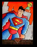 Superman: The Legend 2013 Cryptozoic DC Comics Sketch Card by Isaiah McAllister