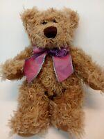 "7"" Harlington Bear With Bow Russ Berrie Plush Stuffed Animal"
