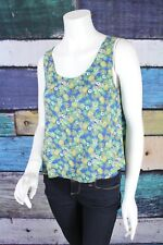 Anthropologie Small S Mine Pineapple Print Strappy Tank Top Shirt Blouse Boho