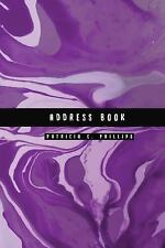 Address Book : Purple Marble Address Book for Contacts, Addresses, Phone...