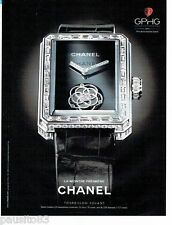 PUBLICITE ADVERTISING 116  2013  la montre premier Tourbillon volant par Chanel