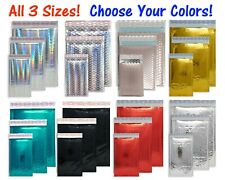 3 Sizes 4x8 6x10 8x12 Assorted Combo Pack Padded Metallic Bubble Mailers Poly