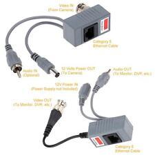 Passive Video Audio&Power Balun Transceiver BNC to UTP CAT5/6 Cable fr CCTV 87ZG