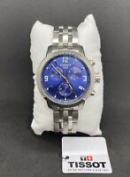 Tissot T055.417.11.047.00 PRC 200 Chronograph Men's Watch - Stainless Steel/Blue