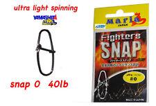 YAMASHITA ULTRA LIGHT SPINNING SNAP 0 40 LB