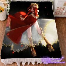 "Cover Bed Sheet Anime Fate/stay night Cosplay 59""X78.7"" Otaku Room Dormitory #13"