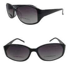 Black Bifocal Tinted Reading Sunglasses Quality Frame Spring Hinges UV Lenses