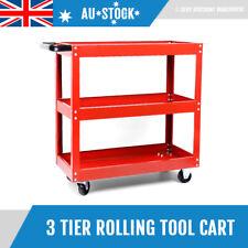 Garage Tool Storage Cart 3 Layer Tier Parts Trolley Warehouse Workshop Shelf