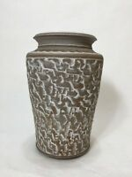 "Mid Century Art Pottery Shack Laguna Beach California Pottery Vase, 9 1/2"" Tall"