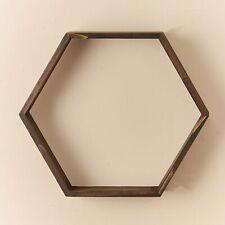 Hexagon Wall Shelf - Floating Honeycomb Shelves for Art, Décor Display
