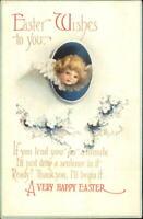 Easter - Chuerub Face c1910 Unsigned Clapsaddle Postcard