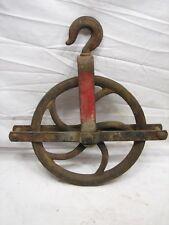 Early Cast Iron Well Pulley Old Farm Wheel Barn Steampunk Steam Punk Industrial