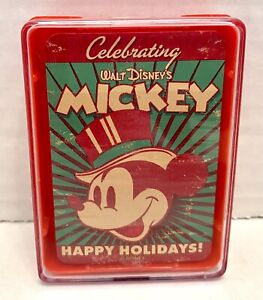 Disney's Mickey Mouse Celebrating the Holidays Mini Deck of Cards Vintage New