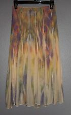 One World Live and Let Live Women's Lined Skirt Boho Peasant Skirt Petite PS EUC