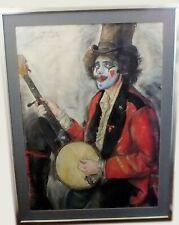 "S.C. Schoneberg Large Original Pastel Painting, Signed, Framed, 30"" x 40"" Image"