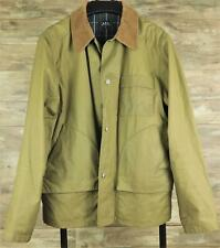 A.P.C. apc XL Green Waxed Canvas Jacket Rogue Trad Hunting Sporting Corduroy