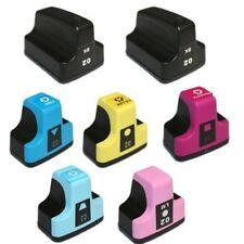 7 Ink Cartridges Comp HP 02 XL for PhotoSmart C7180 D7460 D7160 02XL