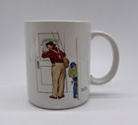 Norman Rockwell Vintage Mug Coffee Cup Closed For Business Made In Japan