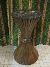 Vintage 70' Ancien PIED DE TABLE ? forme DIABOLO en ROTIN 62cm Support Piédestal