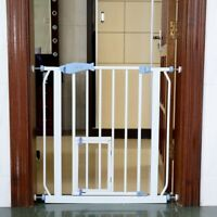 North States Easy Close 28 to 38.5 Inch Metal Baby Child Pet Safety Gate, White