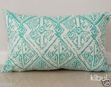 Aqua Aztec Cushion Cover Throw Pillow Case Home Decor 100% Cotton 30x50cm Kibui