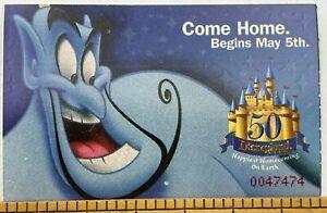 Disneyland Club 33 1-Day Hopper Ticket USED 1/23/2005 Genie 50th Anniversary